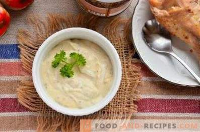 Salsa de pollo con crema agria