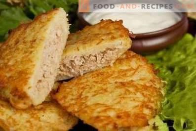 Tortitas de patata con carne