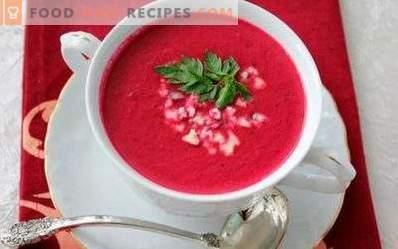 Sopa de puré de remolacha