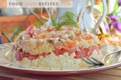 Ensalada con salmón salado