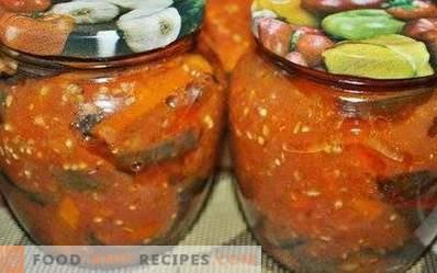 Berenjenas en salsa de tomate para el invierno
