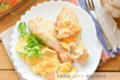 Cómo cocinar pollo con papas en el horno