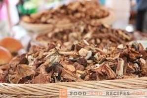 Hoe gedroogde paddenstoelen te bewaren