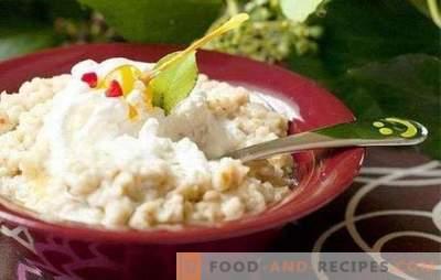 Gachas de Hércules con leche: la receta para el mejor desayuno. Gachas de Hércules en leche con frutos secos, bayas, especias, calabaza